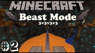 Minecraft: Beast Mode #2 - w/ SimplySarc & Queenkinghappy (3v3v3v3)