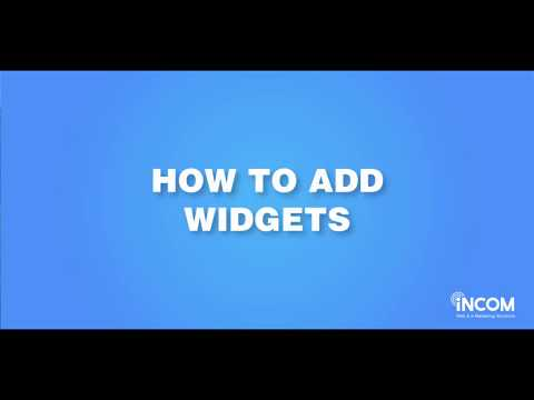How to Add Widgets