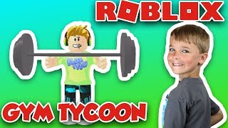STRONGEST KID ON ROBLOX | GETTING BUFF in ROBLOX GYM TYCOON