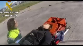 Rescate en helicóptero de la Guardia Civil