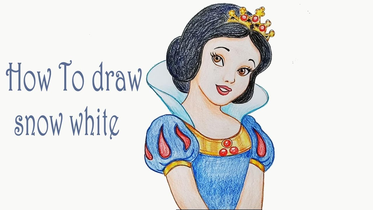 How To Draw Snow White Step By Step Youtube