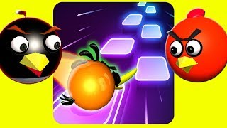 TILES HOP: EDM Rush! with ANGRY BIRDS ♫  3D animated  Game-Mashup ☺ FunVideoTV - Style ;-))