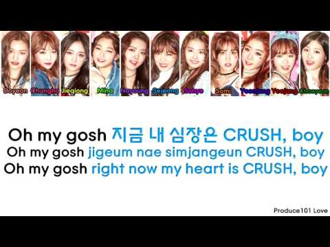 IOI ~ Crush Edited Version (Dance and Duck Sound) Color Coded Lyrics (Han/Rom/Eng)