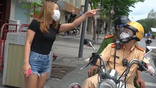 Full clip khó đỡ! Cô gái ra đường bị CSGT phạt, kéo theo người khác cùng chịu tội nhưng bất thành