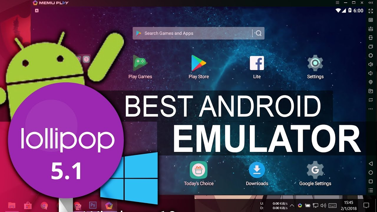 free android emulators for windows 10