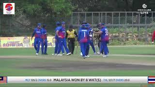 Malaysia T20 i Tri-Series 2019- Thailand VS Malaysia