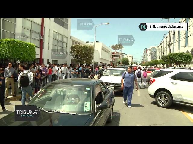 Justo el Momento del Sismo en Puebla