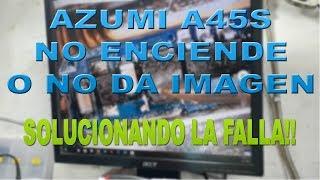 """REPARACIÓN AZUMI A45S NO ENCIENDE O NO DA IMAGEN """"CAMBIO IC, CAPACITOR, DIODO Y BOBINA"""""""