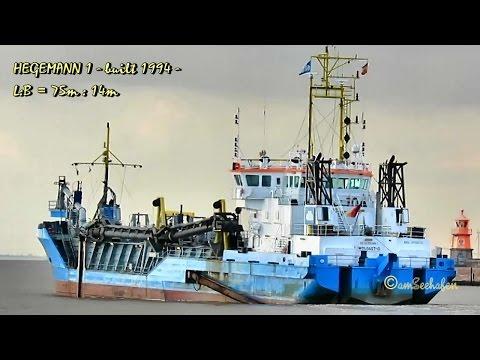trailing suction hopper dredge HEGEMANN 1 DQKQ IMO 9113070 Emden Baggerschiff