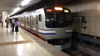 E217系クラY-5編成+クラY-114編成東京発車