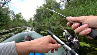 Рыбалка на блесну в зарослях кувшинок. На эту приманку поклевка за поклевкой!