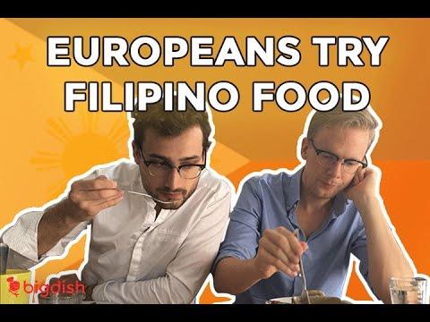 Europeans Try Filipino Food