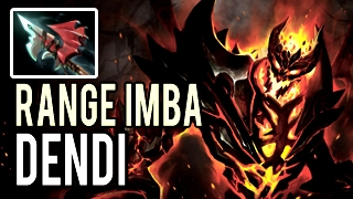 Full Item Range Imba by Dendi Shadow Fiend 8k MMR Patch 7.02 Dota 2