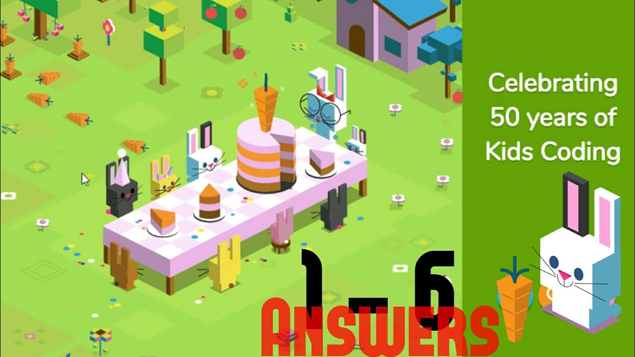 48e25f91acdd Google New Game  Coding for Carrots Answers - YouTube
