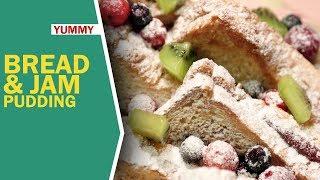 Bread & Jam Pudding   How To Make Bread Pudding   ब्रेड जैम पुडिंग   Yummy & Easy Pudding   Food Tak