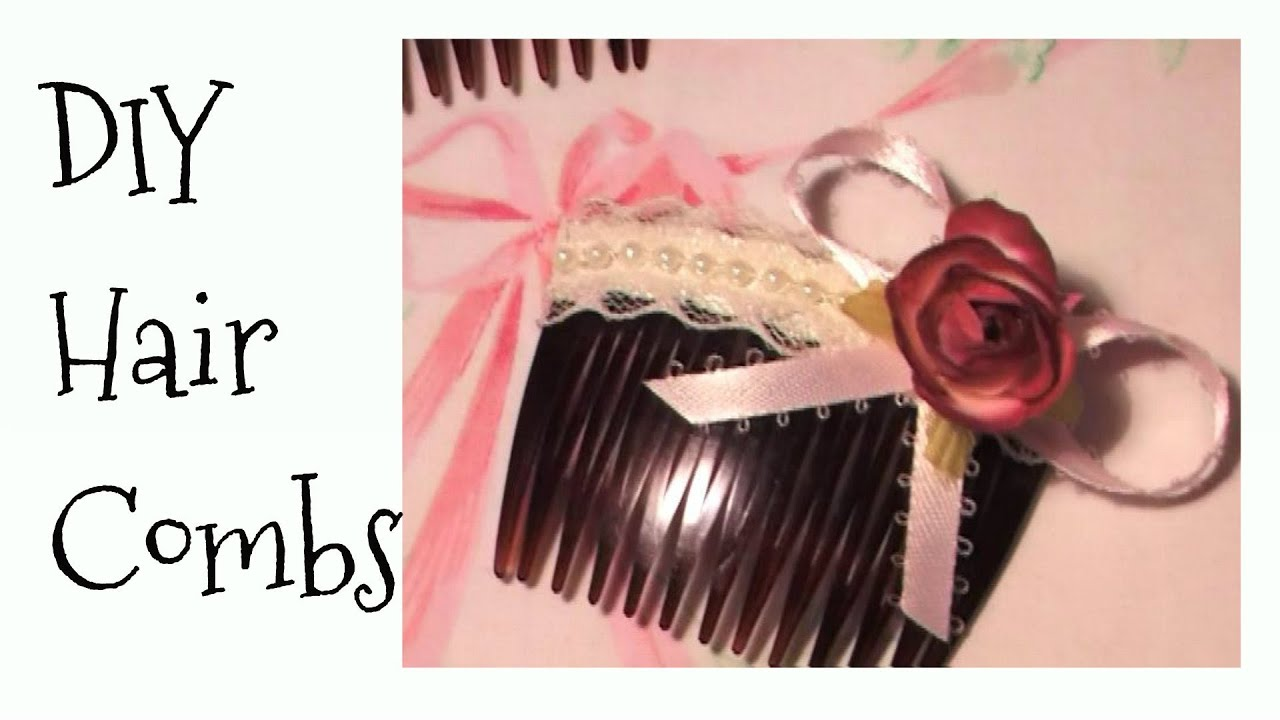 How to diy shabby chic style hair clips combs hair accessories how to diy shabby chic style hair clips combs hair accessories gift ideas youtube solutioingenieria Image collections