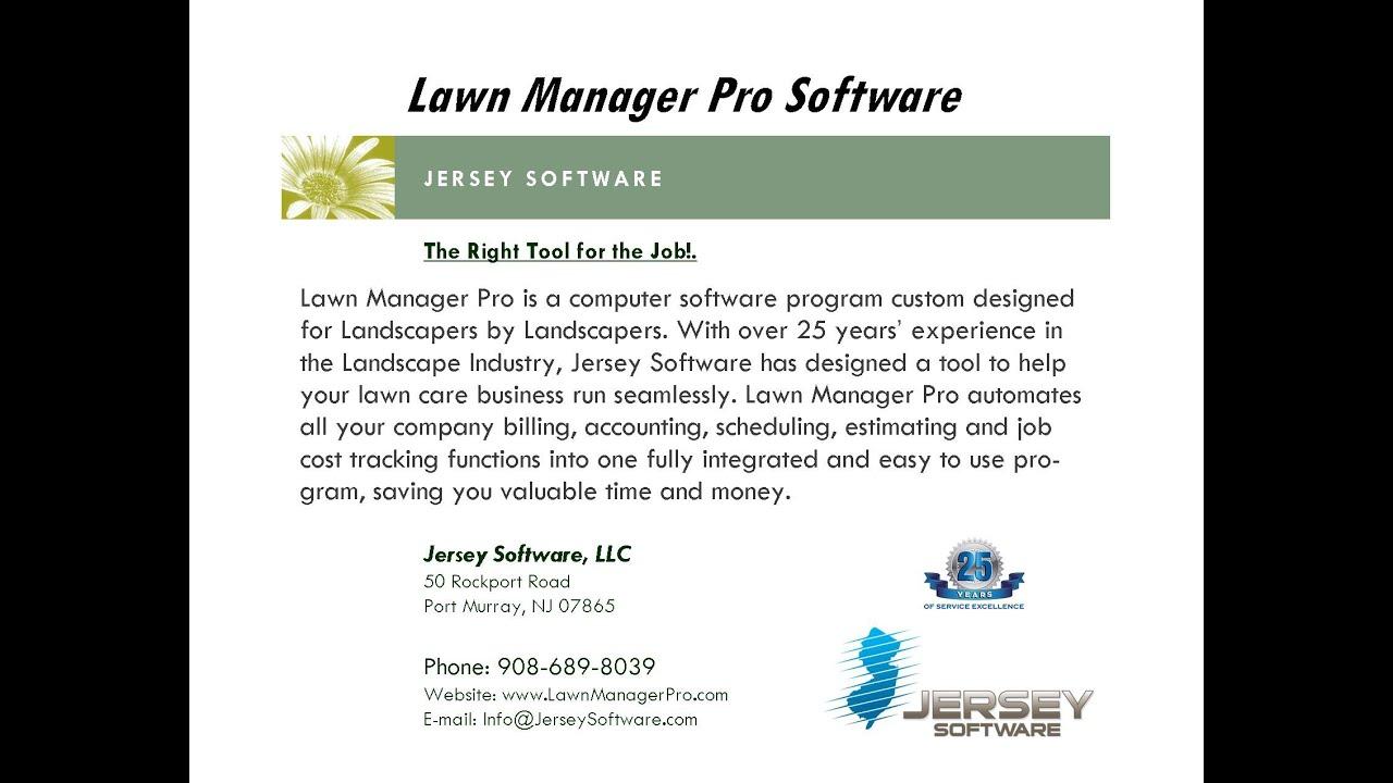 Lawn Manager Pro Landscape Billing Software - YouTube