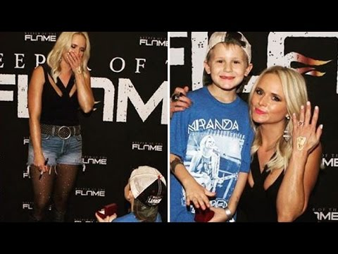 6-Year-Old Boy Kneels For Cutest Marriage Proposal To Miranda Lambert