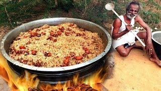 FRIED RICE !!! Classic CHICKEN Fried Rice Prepared by my Daddy ARUMUGAM / Village food factory