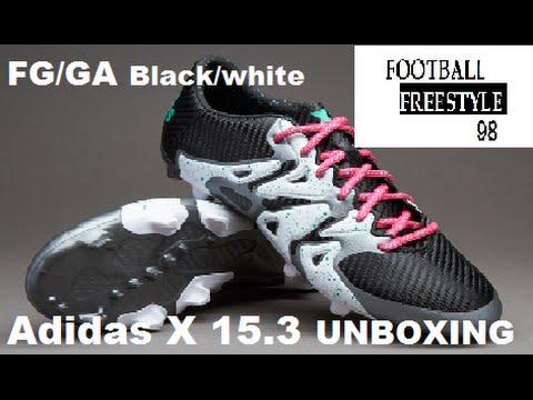51795c25e09 Adidas X 15.3 Black white FG AG UNBOXING!! FFREESTYLE98 - YouTube