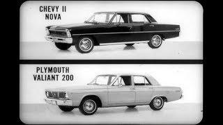 1966 Plymouth Valiant vs  Chevrolet Chevy II Dealer Promo Film