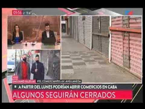 TN - Entrevista a Fabián Castillo - móvil en Av. Avellaneda por reapertura comercial