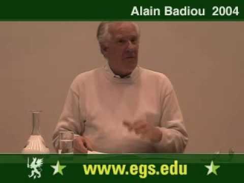 Alain Badiou. Political Perversion and Democracy. 2004 1/12