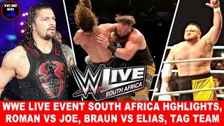WWE Live Event 19 April 2018 Highlights Results || WWE Live Event South Africa 19 April Highlights