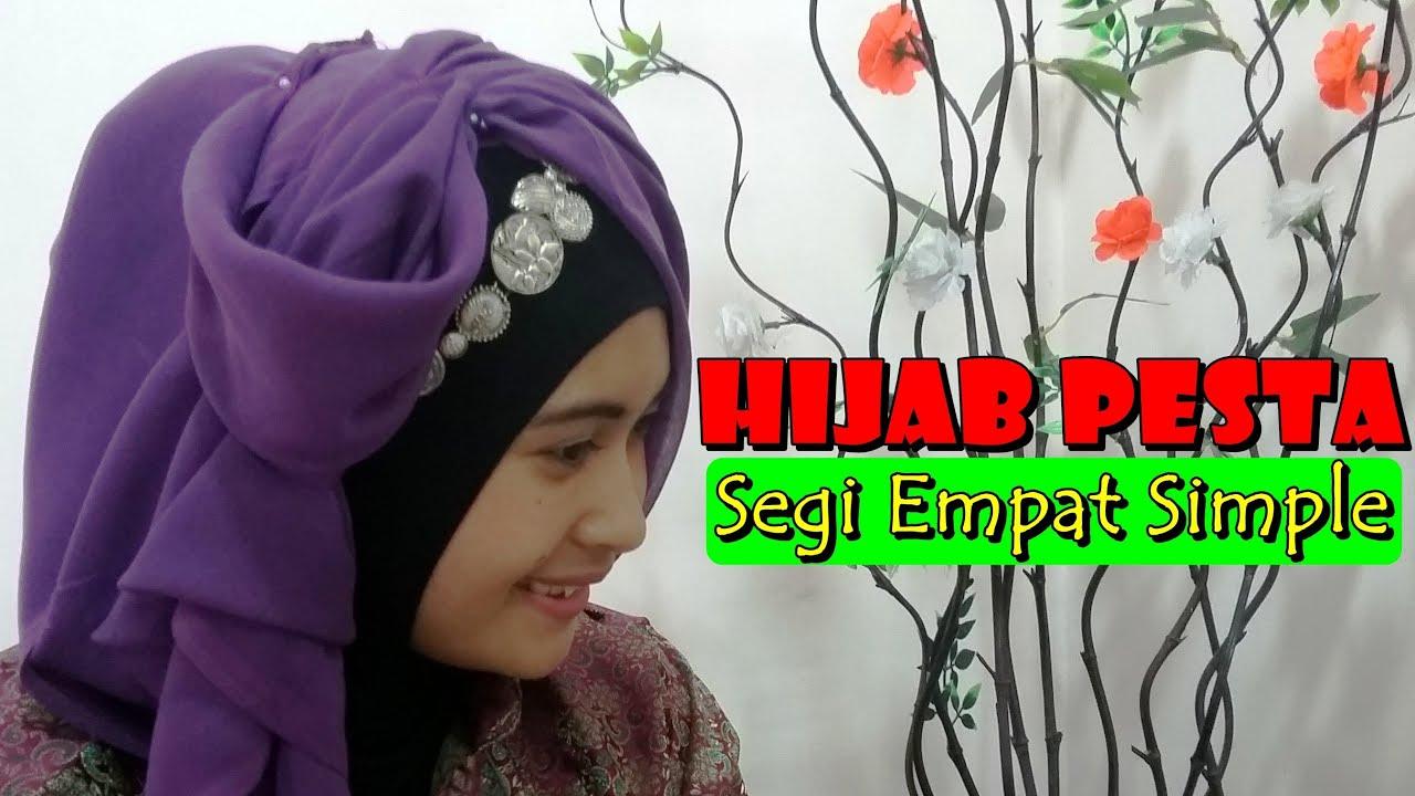 Hijab Pesta Pernikahan Segi Empat Simple By Nica 182 YouTube