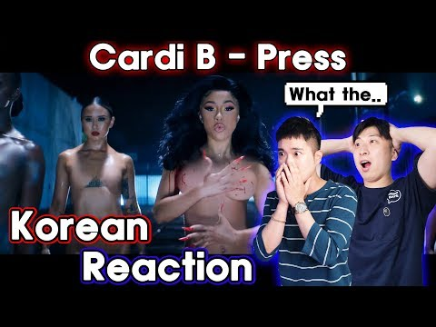 🔥(ENG)/ KOREAN Rappers / React To CARDI B - PRESS🔥