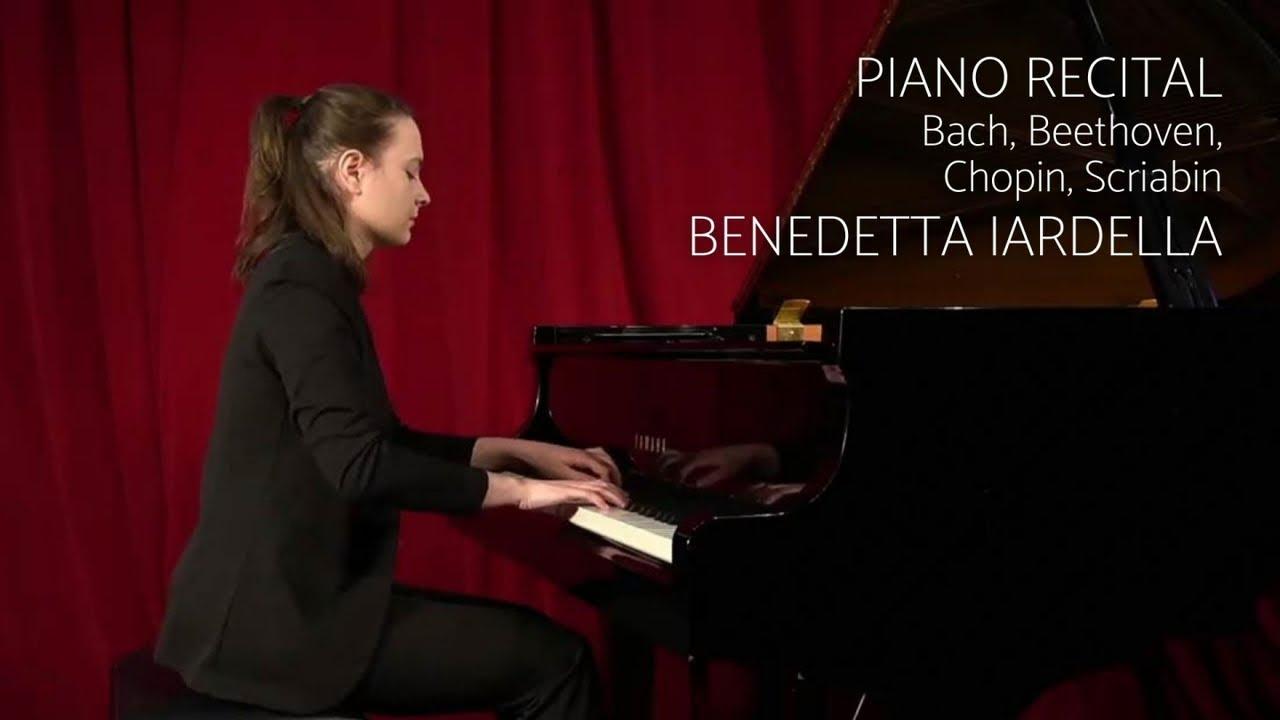 Download Piano Recital: Bach, Beethoven, Chopin, Scriabin (Benedetta Iardella)
