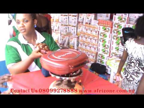 Afrizone Products Demonstration in Lagos Trade Fair 2016