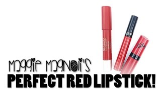 BEST RED LIPSTICKS FOR HOLIDAY PARTIES! - Maggie Magnoli