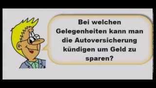 KFZ Versicherung kündigen, alle Gelegenheiten, Video Autotipp zum kostenlosen Versicherungsrechner