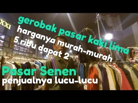 Baju Second Import Kaki Lima Di Malam Hari Pasar Senen