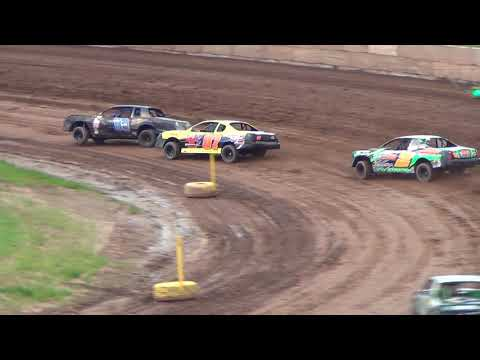 IMCA Stock Cars Heat #2 6-2-2018 @ Shawano Speedway Wisconsin Dirt Track