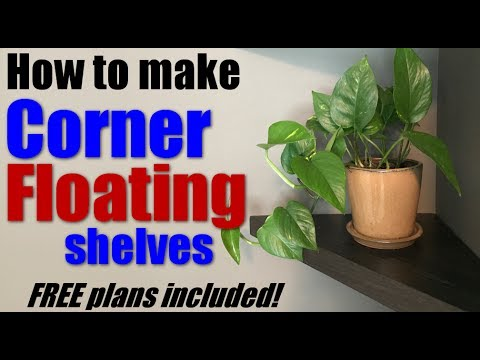 Woodworking: How to make corner floating shelves - FREE plans!