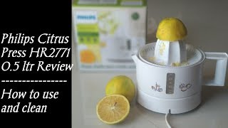 Philips Citrus Press Juicer | HR2771 Review in Tamil | How to use and easy cleaning method