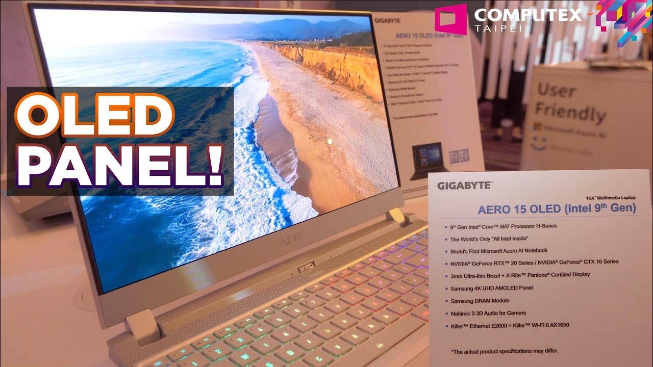 Computex 2019: Gigabyte Booth Tour with 4k OLED AORUS AERO 15 laptop!