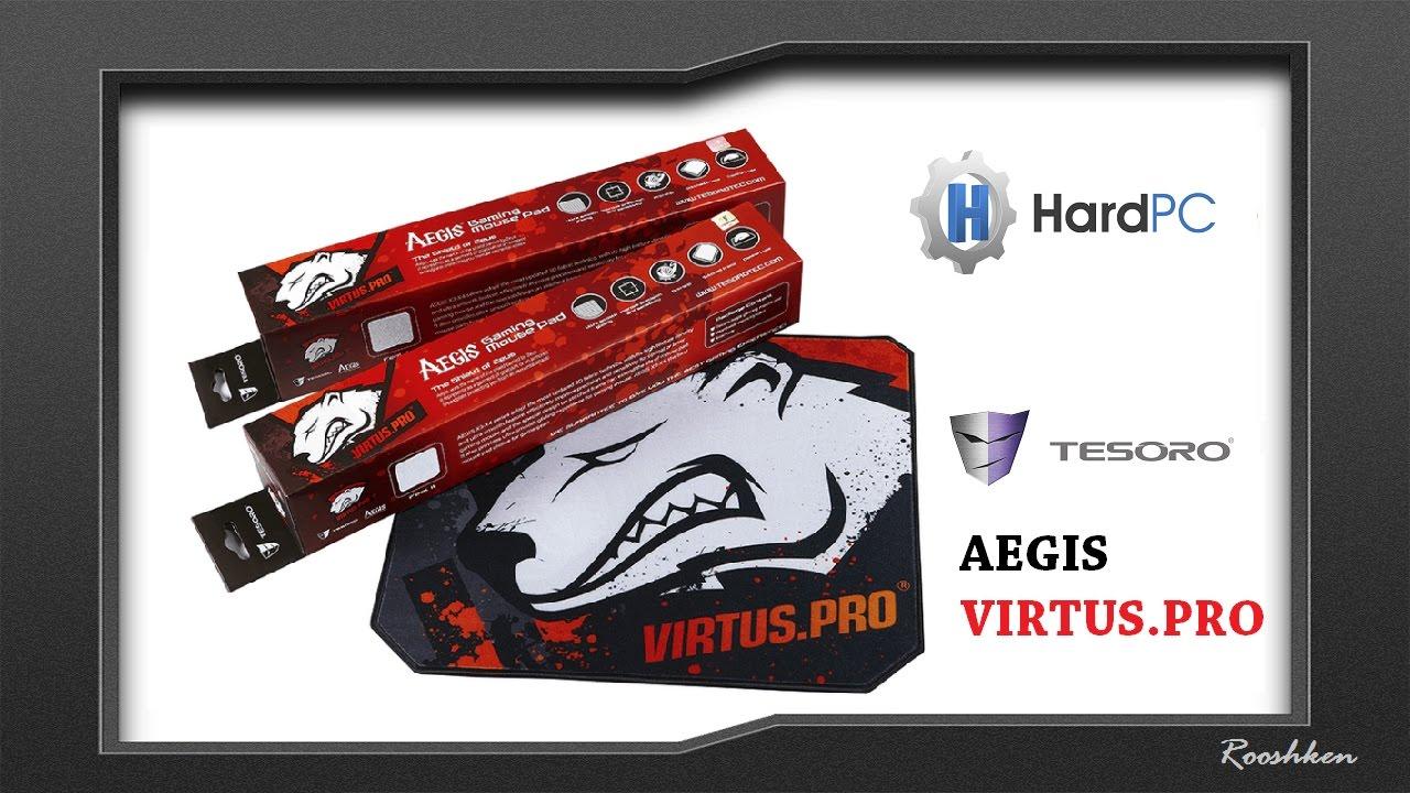 Tesoro Aegis Virtus.pro edition - Test podkładki z logo Virtusów