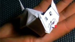 как из бумаги сделать кошку(подробная инструкция как сделать кошку из бумаги., 2013-11-04T20:18:09.000Z)