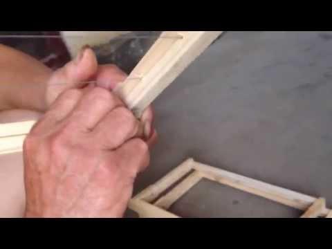 Cách làm cầu ong mật- căng dây thép