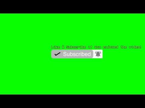 Subscribe Button Green Screen