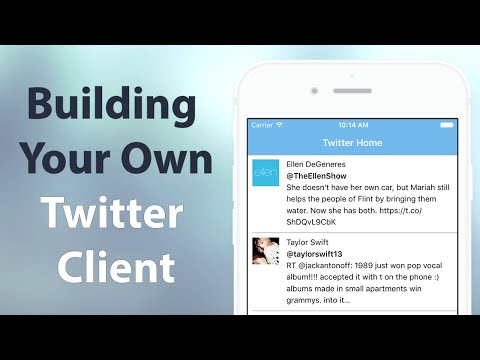 iOS Swift: Build a Twitter Client App that integrates with CocoaPods