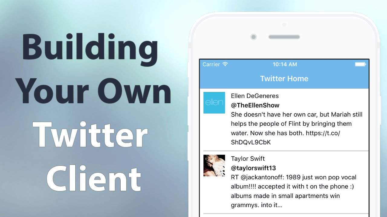 How to write a twitter client