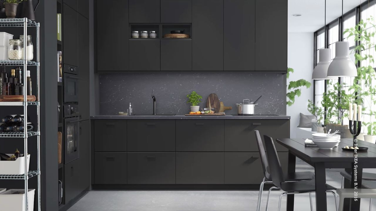 ikea kungsbacka k che aus recycelten materialien youtube. Black Bedroom Furniture Sets. Home Design Ideas