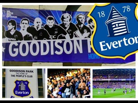 Everton fans at Goodison Park