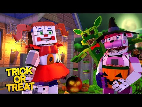 Minecraft Fnaf: Sister Location Trick Or Treating At The Pizza Place (Minecraft Roleplay)