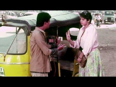 Kshana Kshanam Movie Scenes - Sridevi fighting with an auto driver - Venkatesh, Sridevi