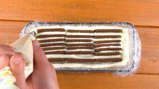 Из одной пачки печенья получаем роскошный десерт к празднику. Просто и быстро!